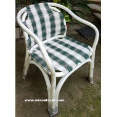 Heaven Outdoor Chairs White-Color-Green Check-001
