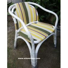 Heaven Outdoor Chairs White Frame Yellow Fab 001